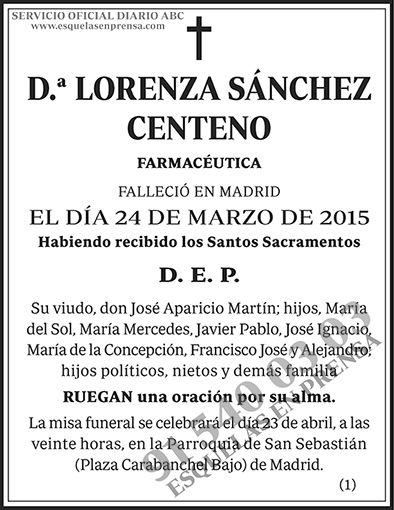 Lorenza Sánchez Centero
